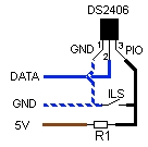 Schéma du DS2406 en capteur