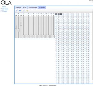 Console ola pour contrôleur RGB