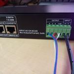 Bornier de connexion et le DMX Ethernet