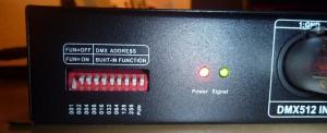 adressage DMX du contrôleur RGB
