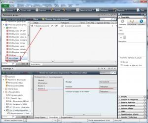 Configuration ETS4 avec un groupe vite pour le DMX