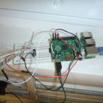 Raspberry et breadboard pour essai téléinfo