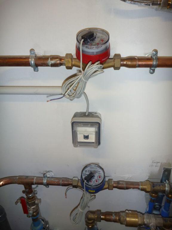 Suvi de la consommation d'eau avec des compteurs à impulsions sur
