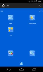 Z41 Remote Android écran principal